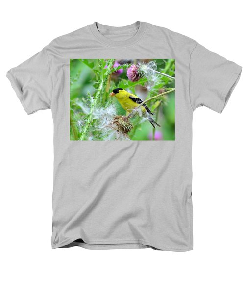Male Goldfinch Men's T-Shirt  (Regular Fit) by Kathy Eickenberg