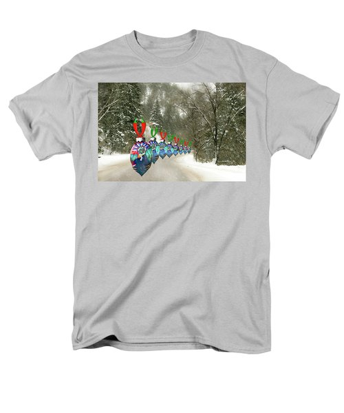 Marching Ornaments Chili Peppers Men's T-Shirt  (Regular Fit)