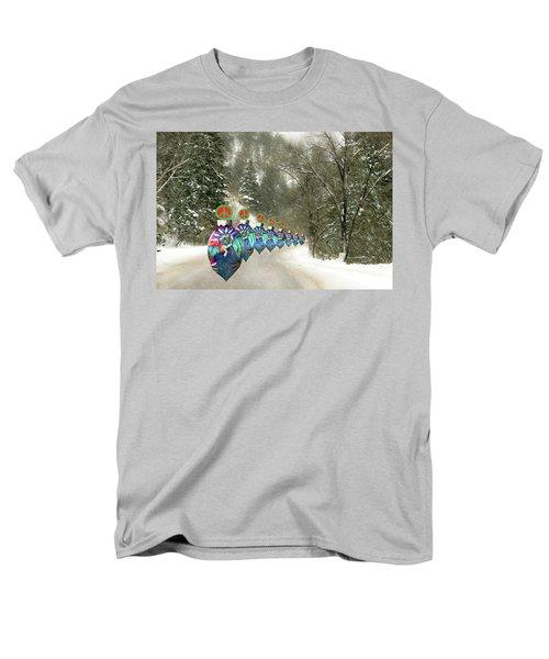 Marching Peace Ornaments Men's T-Shirt  (Regular Fit)