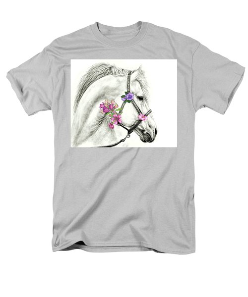 Mare With Flowers Men's T-Shirt  (Regular Fit) by Heidi Kriel