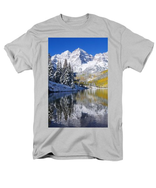 Maroon Lake And Bells 2 Men's T-Shirt  (Regular Fit) by Ron Dahlquist - Printscapes