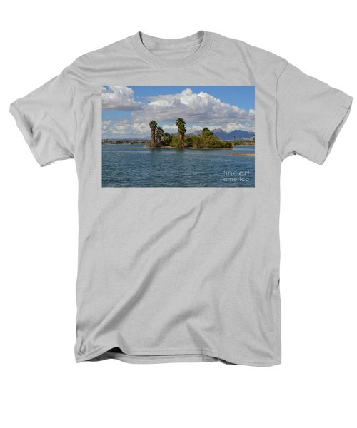 Marooned Palms Men's T-Shirt  (Regular Fit) by Renie Rutten