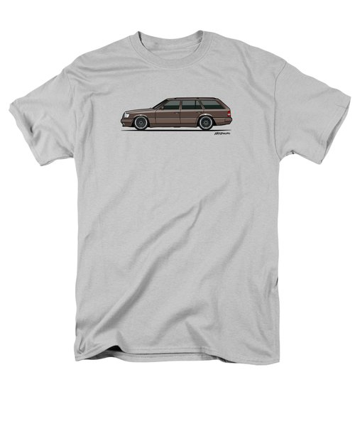 Mercedes Benz W124 E-class 300te Wagon - Anthracite Grey Men's T-Shirt  (Regular Fit) by Monkey Crisis On Mars