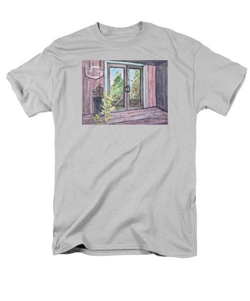 Men's T-Shirt  (Regular Fit) featuring the painting Mercier Orchard's Hard Cider by Gretchen Allen