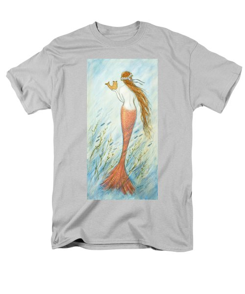 Mermaid And Her Catfish, Goldie Men's T-Shirt  (Regular Fit) by Tina Obrien