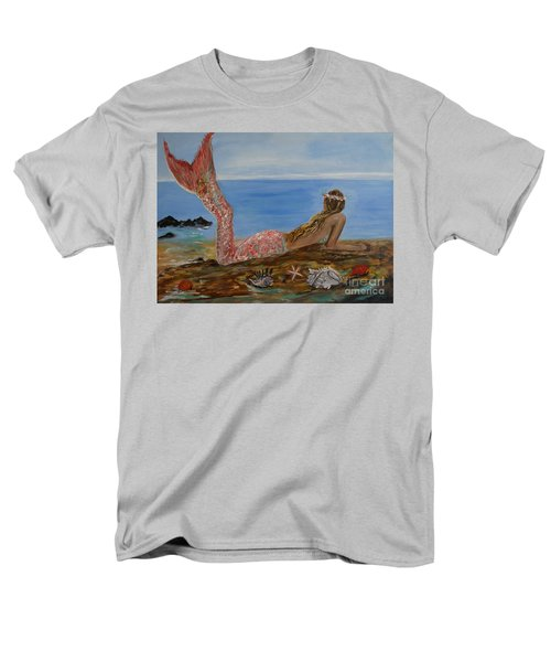Mermaid Beauty Men's T-Shirt  (Regular Fit) by Leslie Allen