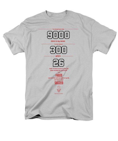 Michael Jordan Quote Sports Inspirational Quotes Poster Men's T-Shirt  (Regular Fit)