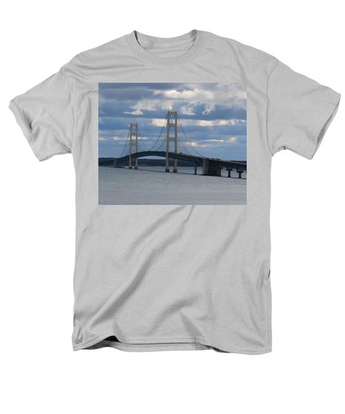 Mighty Mac The Mackinac Bridge Men's T-Shirt  (Regular Fit) by Keith Stokes