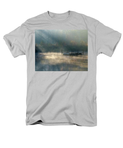 Men's T-Shirt  (Regular Fit) featuring the photograph Misty Sunrise by George Randy Bass