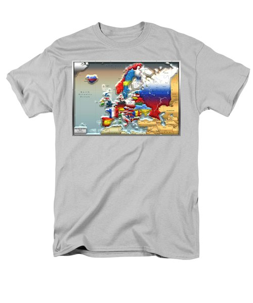 Modern Portrait Of Modern Europe - 3d Men's T-Shirt  (Regular Fit) by Serge Averbukh