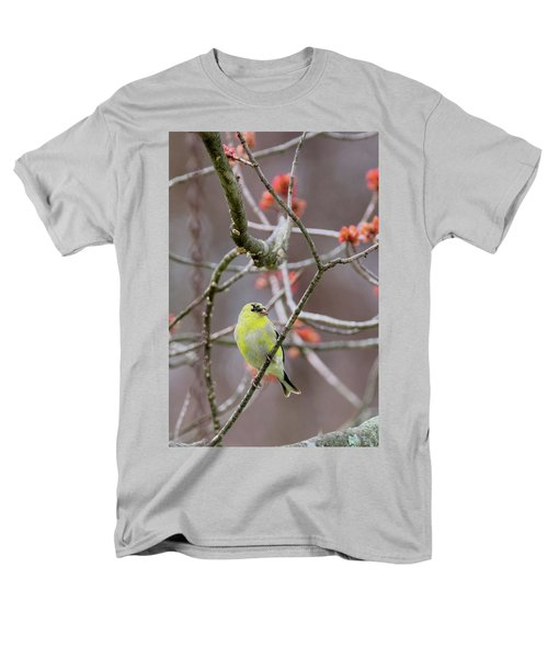 Men's T-Shirt  (Regular Fit) featuring the photograph Molting Gold Finch by Bill Wakeley