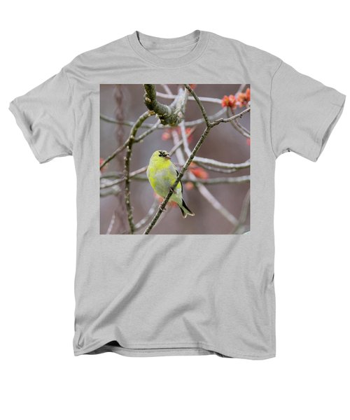 Men's T-Shirt  (Regular Fit) featuring the photograph Molting Gold Finch Square by Bill Wakeley