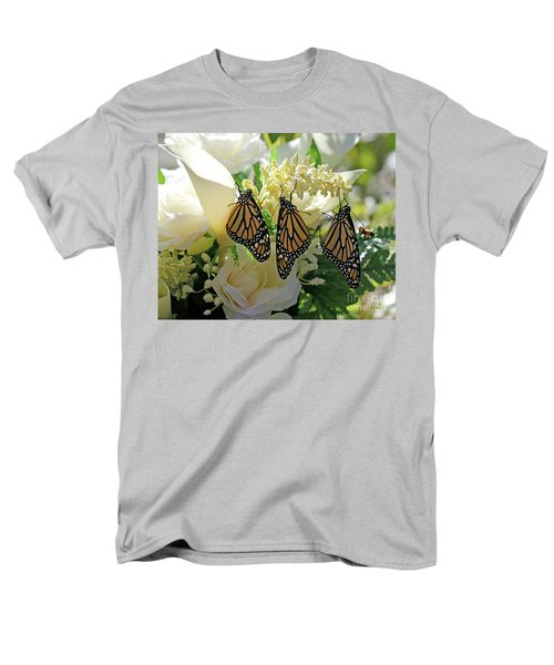 Monarch Butterfly Garden  Men's T-Shirt  (Regular Fit) by Luana K Perez