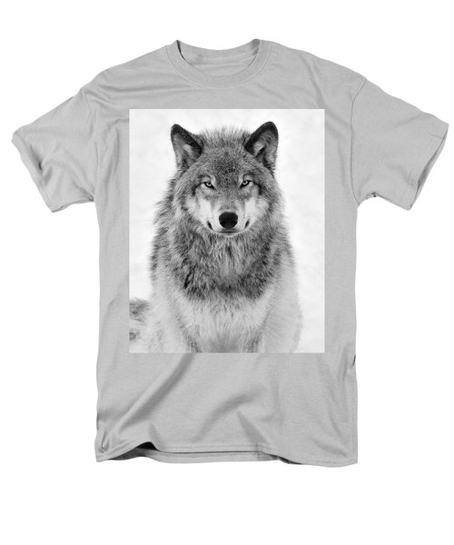 Monotone Timber Wolf  Men's T-Shirt  (Regular Fit) by Tony Beck