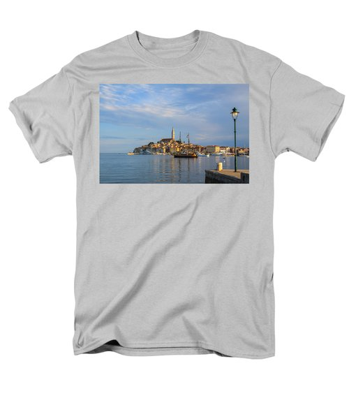 Men's T-Shirt  (Regular Fit) featuring the photograph Morning Aquarelle In Rovinj by Davorin Mance