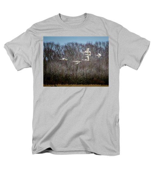 Morning Flight Of Tundra Swan Men's T-Shirt  (Regular Fit)