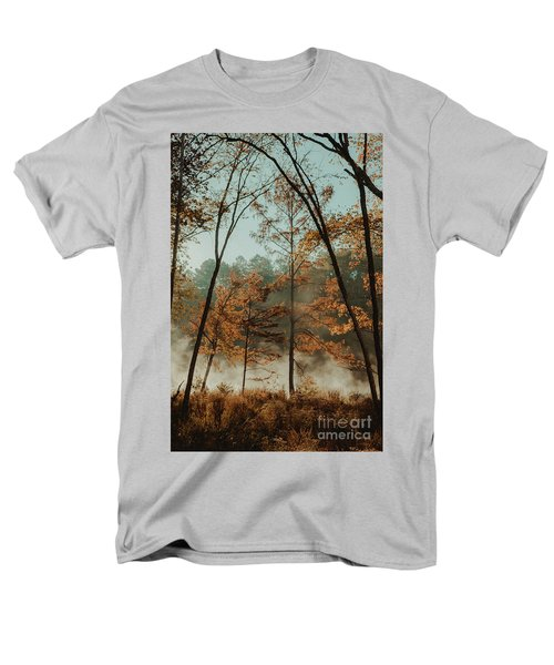 Morning Fog At The River Men's T-Shirt  (Regular Fit) by Iris Greenwell