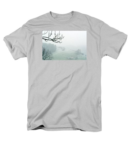 Men's T-Shirt  (Regular Fit) featuring the photograph Morning Fog - Winter In Switzerland by Susanne Van Hulst