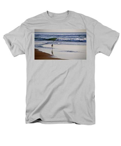 Men's T-Shirt  (Regular Fit) featuring the photograph Morning Walk At Ormond Beach by Steven Sparks