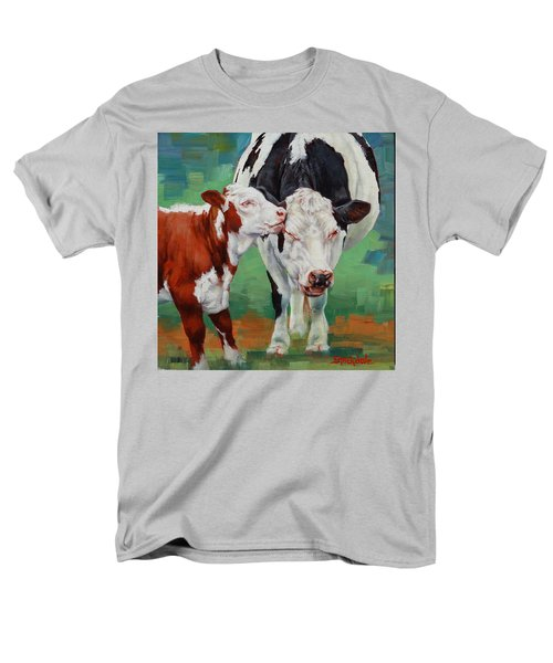 Men's T-Shirt  (Regular Fit) featuring the painting Mother And Son by Margaret Stockdale