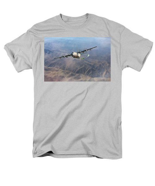 Men's T-Shirt  (Regular Fit) featuring the digital art Mother Do You Think They Will Drop The Bomb by Peter Chilelli