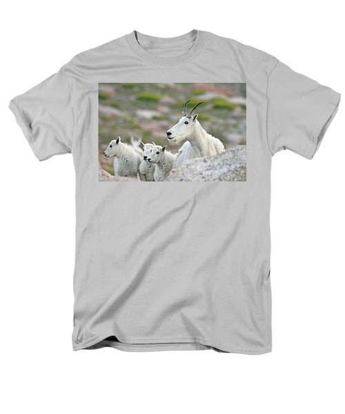 Men's T-Shirt  (Regular Fit) featuring the photograph Mountain Goat Family by Scott Mahon