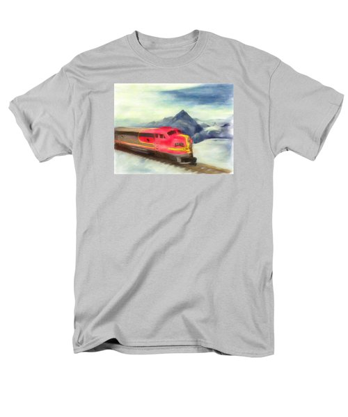 Mountain Train Men's T-Shirt  (Regular Fit) by Michael Cleere