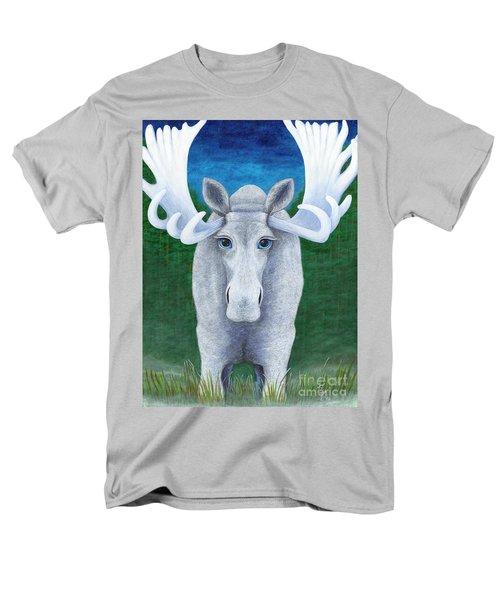 Mr. Moose Men's T-Shirt  (Regular Fit) by Rebecca Parker