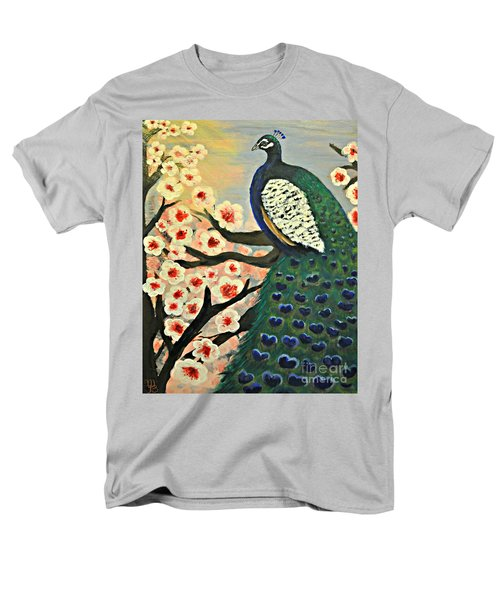 Mr. Peacock Cherry Blossom Men's T-Shirt  (Regular Fit) by Mindy Bench