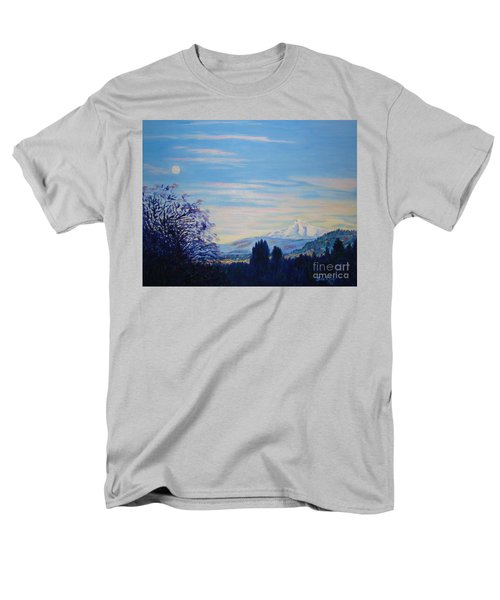 Mt Hood A View From Gresham Men's T-Shirt  (Regular Fit) by Lisa Rose Musselwhite