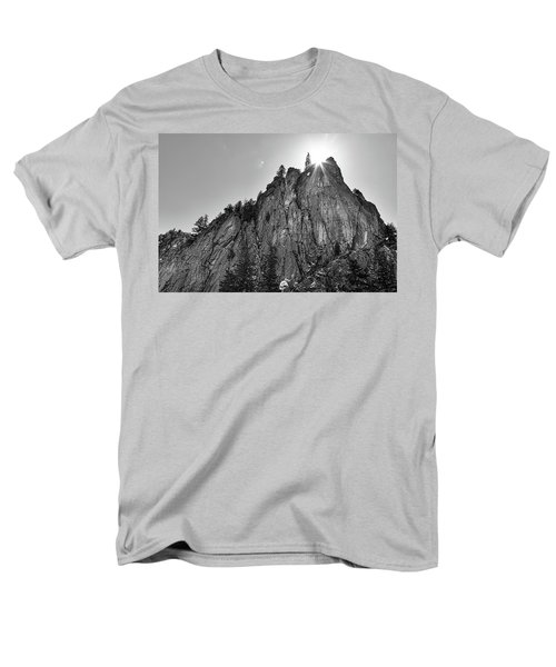 Men's T-Shirt  (Regular Fit) featuring the photograph Narrows Pinnacle Boulder Canyon by James BO Insogna