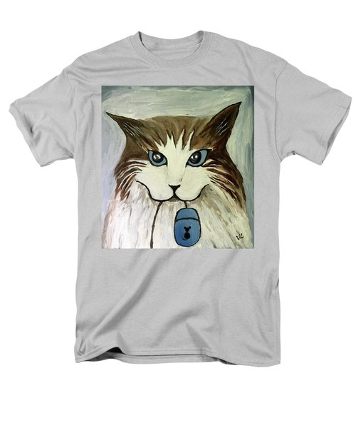 Men's T-Shirt  (Regular Fit) featuring the painting Nerd Cat by Victoria Lakes