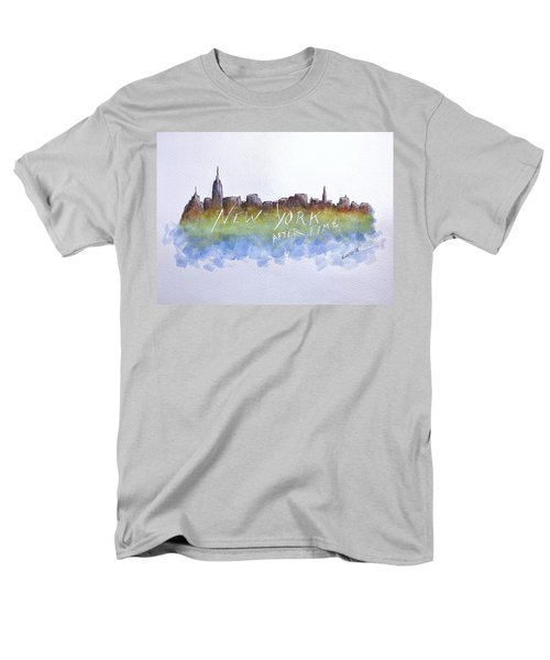 New York After Time Men's T-Shirt  (Regular Fit) by Edwin Alverio