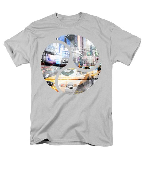 New York City Geometric Mix No. 9 Men's T-Shirt  (Regular Fit) by Melanie Viola