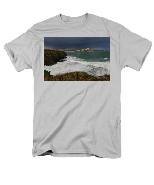 Men's T-Shirt  (Regular Fit) featuring the photograph Newquay Squalls On Horizon by Nicholas Burningham