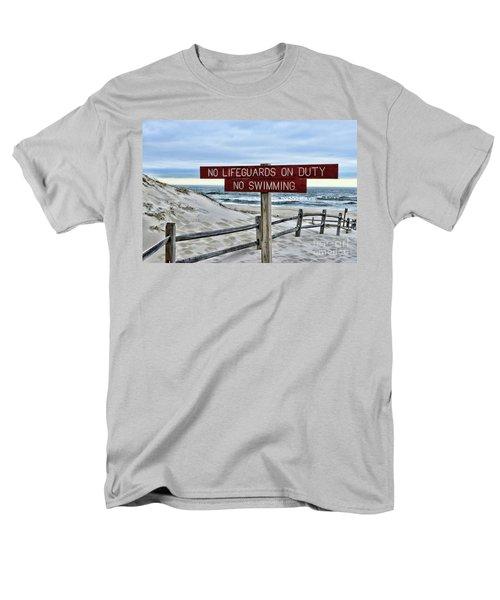 No Lifeguards On Duty Men's T-Shirt  (Regular Fit) by Paul Ward