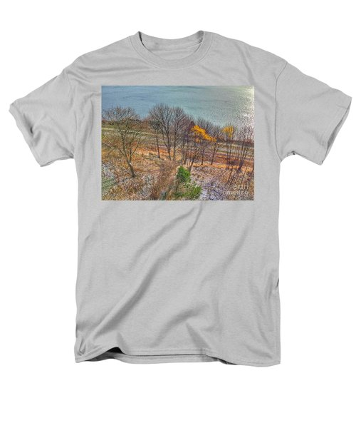 November Snow On Casco Bay Men's T-Shirt  (Regular Fit) by Patricia E Sundik