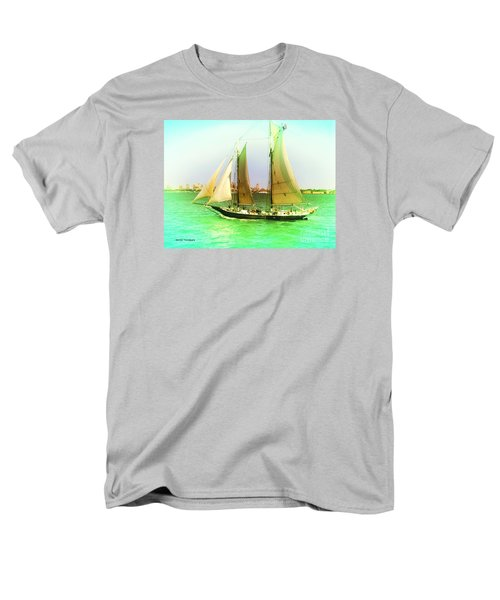 Men's T-Shirt  (Regular Fit) featuring the painting Nyc Sailing by Denise Tomasura