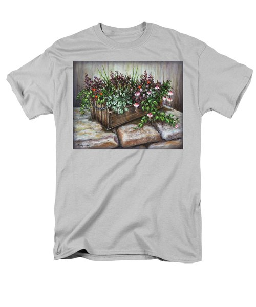 Men's T-Shirt  (Regular Fit) featuring the painting Old Flower Box by Kim Lockman