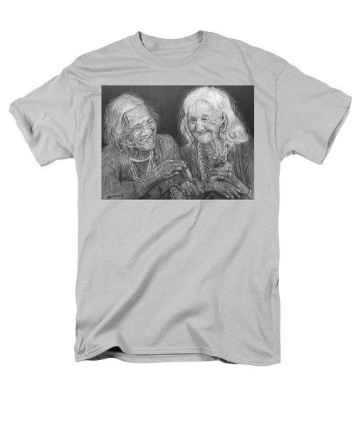 Old Friends, Smokin' And Jokin' Men's T-Shirt  (Regular Fit) by Quwatha Valentine