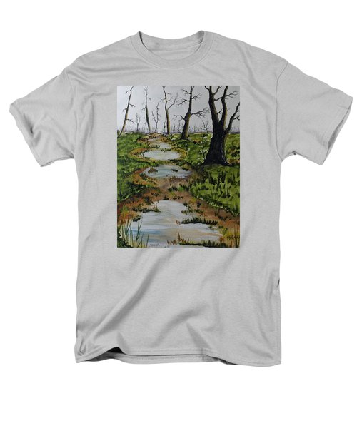 Old Walking Trail Men's T-Shirt  (Regular Fit) by Jack G  Brauer