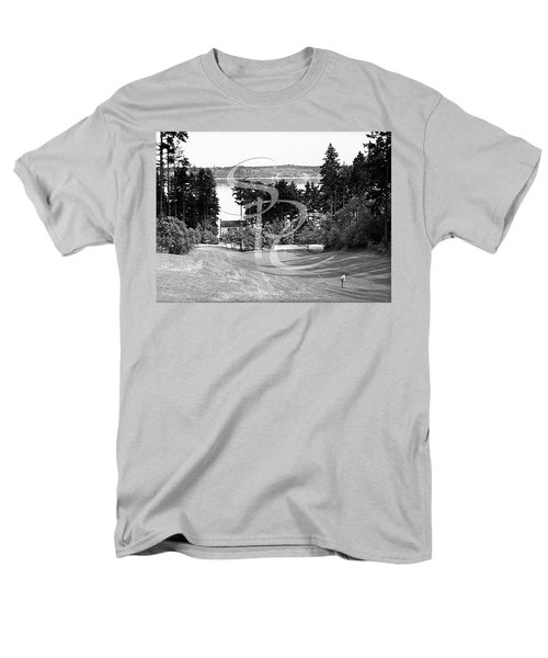 Men's T-Shirt  (Regular Fit) featuring the photograph Olympia Country Club 18th Hole by Merle Junk