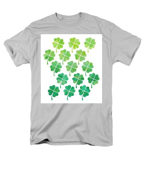 Ombre Shamrocks Men's T-Shirt  (Regular Fit) by Whitney Morton