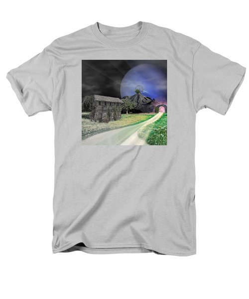 Open Portal Men's T-Shirt  (Regular Fit) by Ally  White