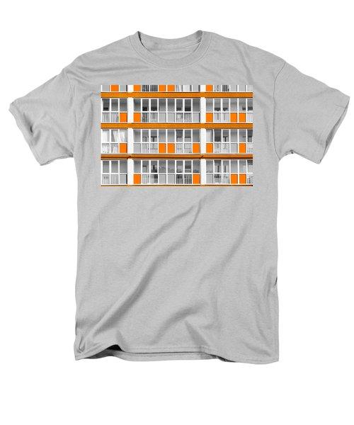 Orange Exterior Decoration Details Of Modern Flats Men's T-Shirt  (Regular Fit) by John Williams
