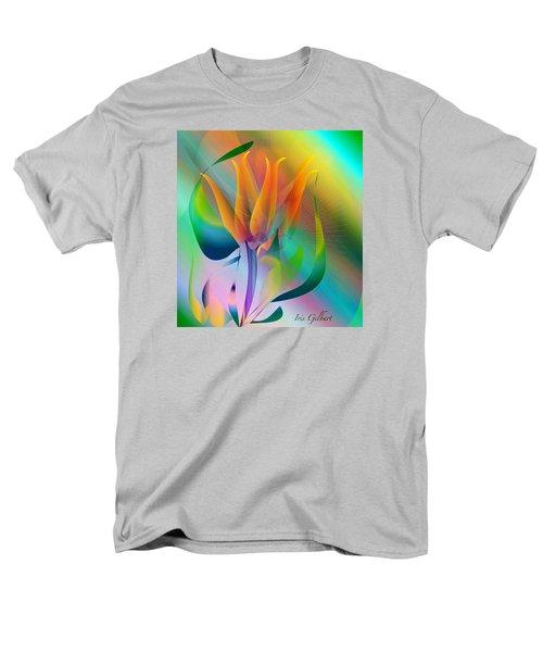 Orange Flower Men's T-Shirt  (Regular Fit) by Iris Gelbart