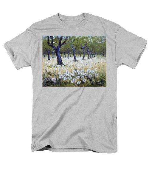 Orchard With Dandelions Men's T-Shirt  (Regular Fit) by Irek Szelag
