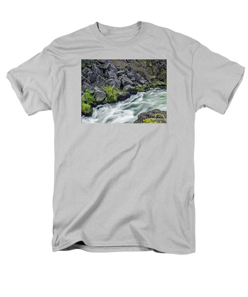 Oregon's Dillon Falls Men's T-Shirt  (Regular Fit) by Nancy Marie Ricketts