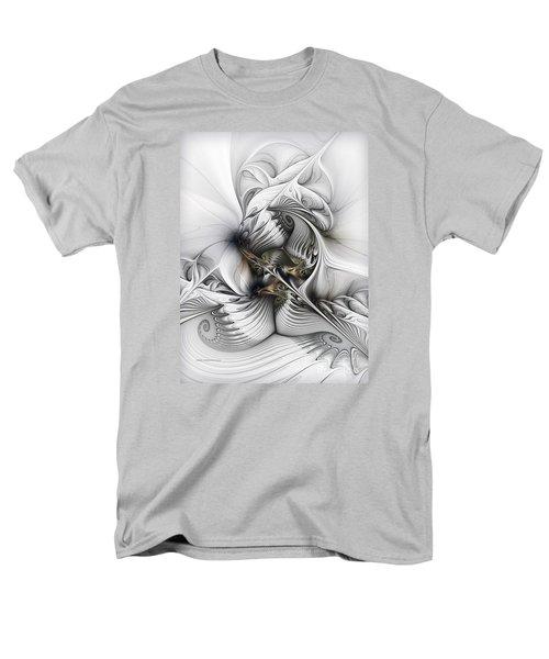 Men's T-Shirt  (Regular Fit) featuring the digital art Organic Spiral Tower Construction by Karin Kuhlmann