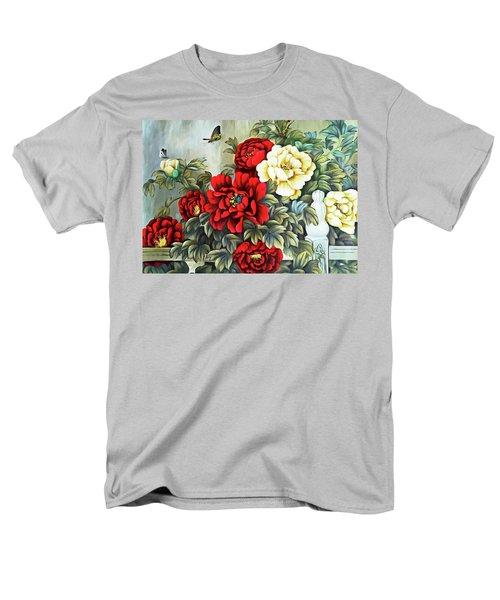 Men's T-Shirt  (Regular Fit) featuring the photograph Oriental Flowers by Munir Alawi